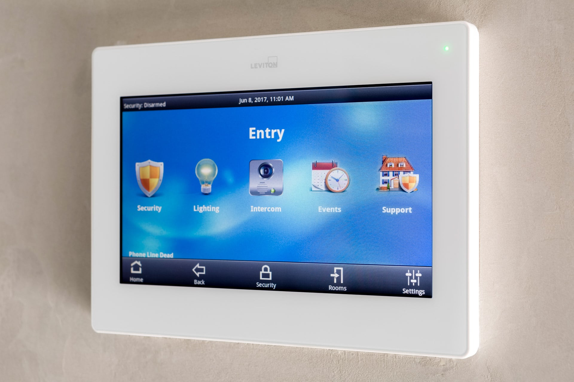 leviton home automation system control panel product photograph by roger thompson
