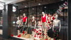 target retail store shop front street frontage window display with manequins and clothing